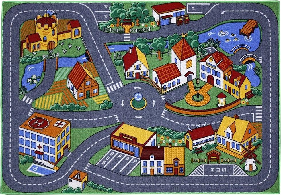 Kinderteppich 'Quiet Town Spielstrasse' 95x133 cm Bild 1