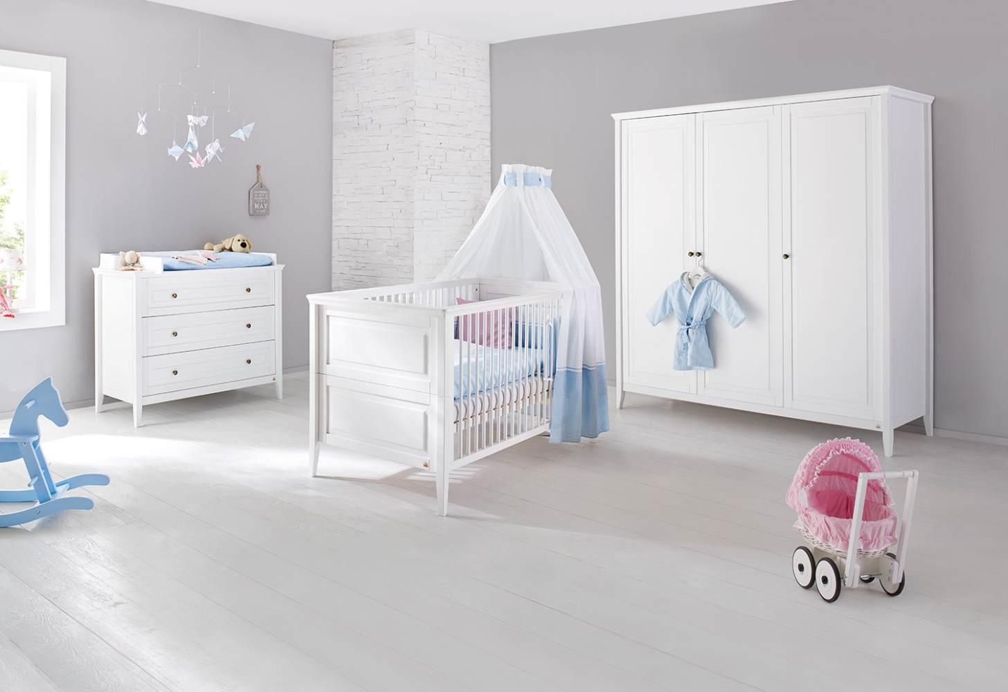 Pinolino 'Smilla' 3-tlg. Babyzimmer-Set weiß Bild 1