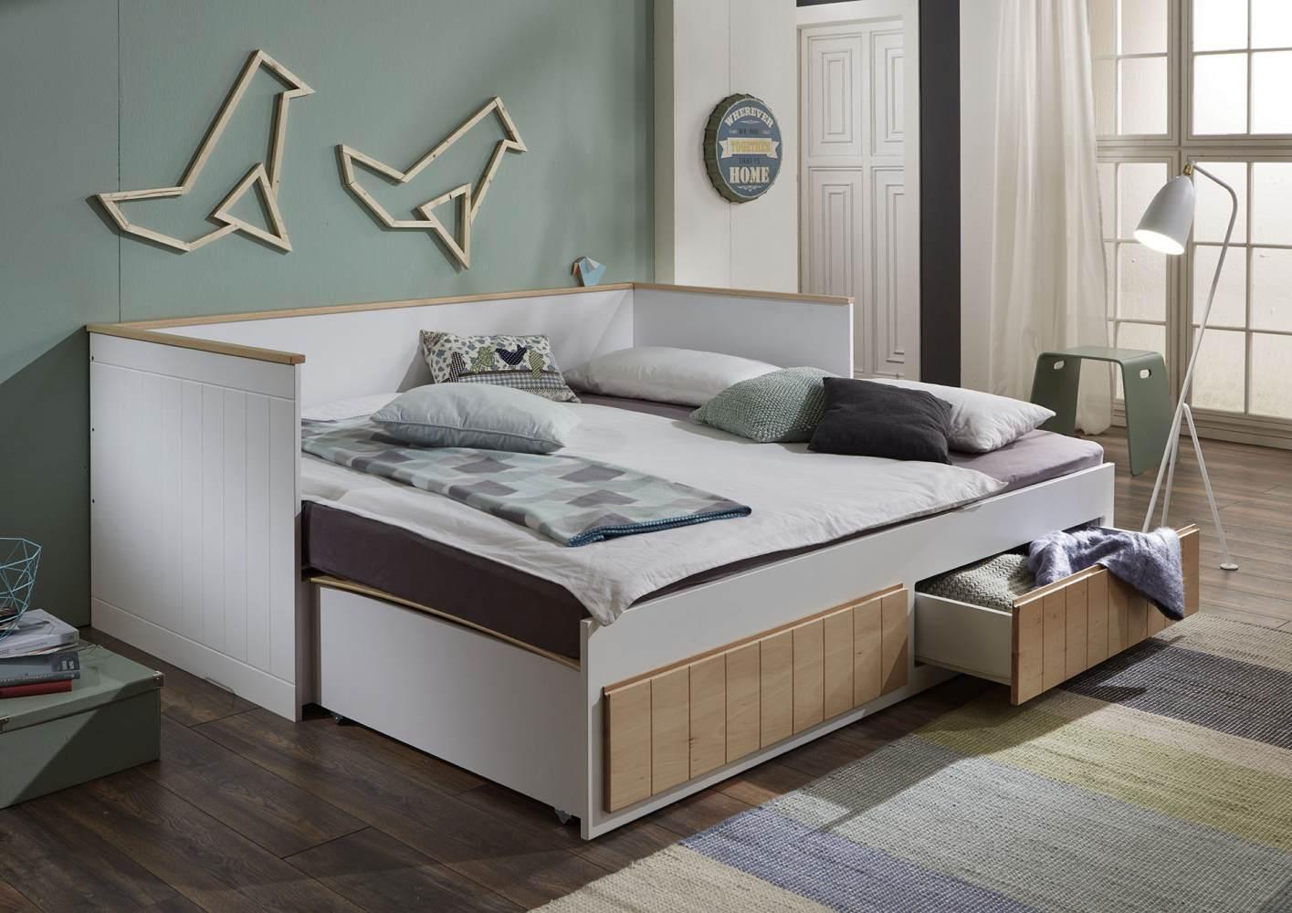 Relita 'Timmi' Einzelbett weiß, inkl. 2 Schubladen, 90/180x200 cm Bild 1