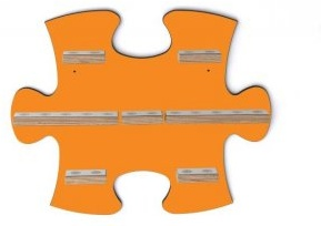 Schreinerei Linden 'Puzzleteil B' Wandregal orange für Toniebox und Tonies-Figuren Bild 1