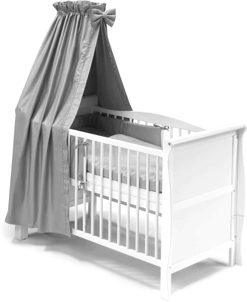 "KOKO -Komplettset Babybett ""LILLY"" 120x60 cm weiss grau im Landhausstil Bild 1"