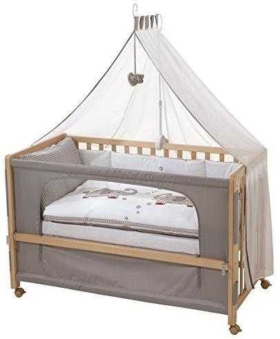 Roba 'Room Bed' Beistellbett natur, inkl. Ausstattung 'Jumbo Twins', 6-fach höhenverstellbar Bild 1
