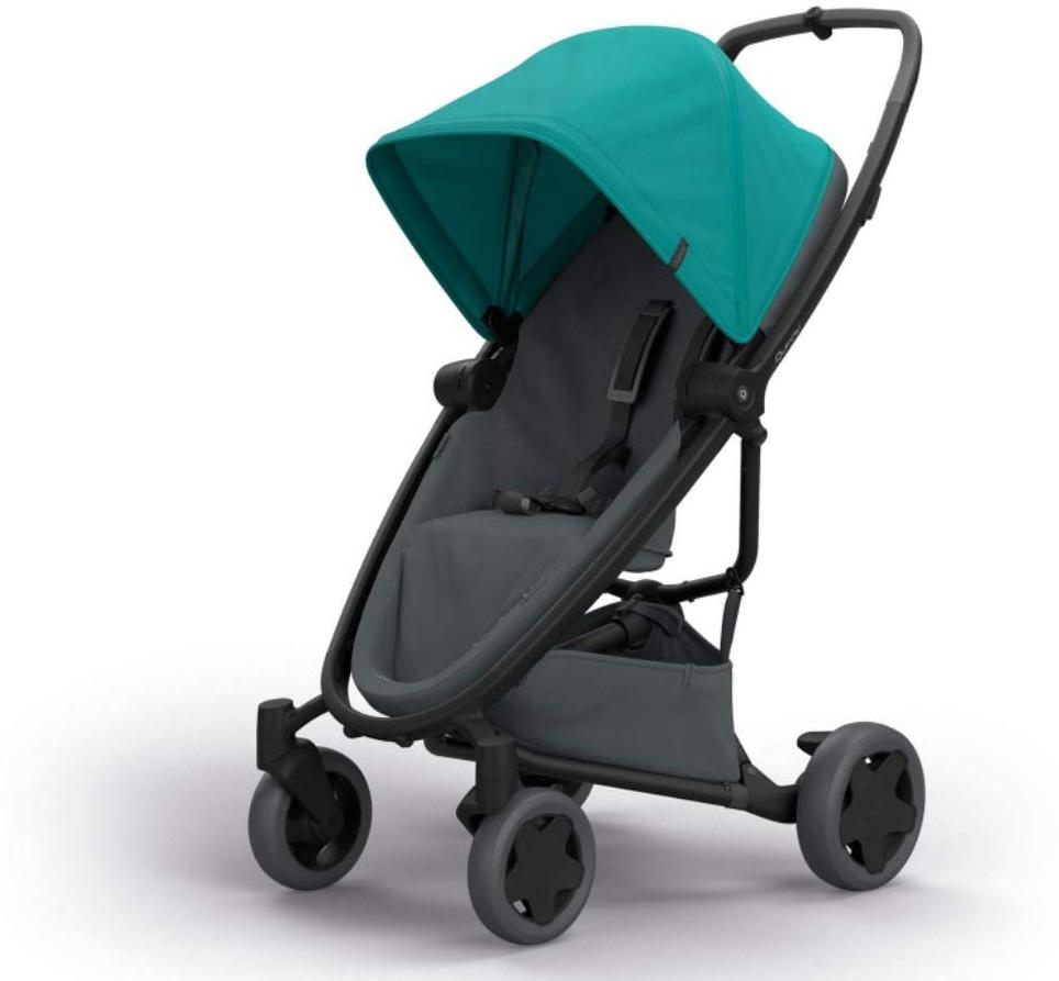 Quinny Zapp Flex Plus Buggy, stylischer Kinderwagen mit viel Komfort und Flexibilität, leicht und extrem kompakt zusammenfaltbar, nutzbar ab der Geburt (z.B. mit Lux Babywanne), green on graphite Bild 1
