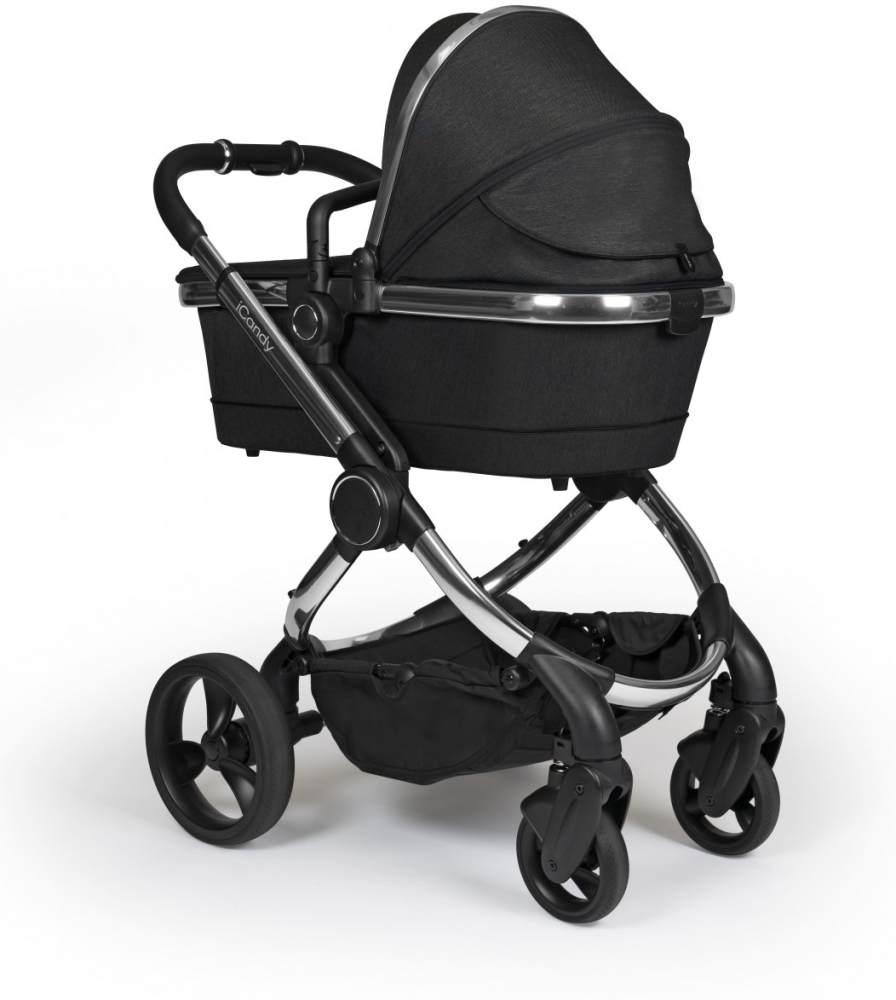 iCandy 'Peach' Kombikinderwagen 2020, Chrome-Black, inkl. Converter Base, 2te Babywanne, 2ter Sportsitz, Regenschutz, Ober und Unter Babyschaleadapter Bild 1