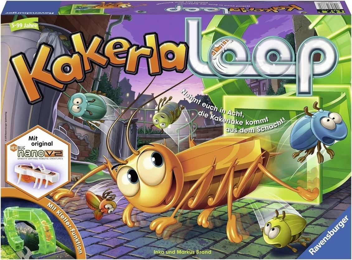 Ravensburger - Kakerlaloop 21123 - Aktionspiel mit elektronischer Kakerlake für Groß und Klein, Familienspiel für 2-4 Spieler, geeignet ab 5 Jahren Bild 1
