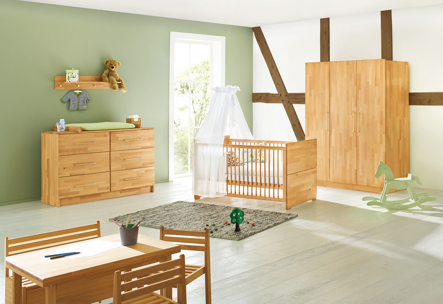 Pinolino 'Natura' 3-tlg. Babyzimmer-Set natur, breit, 3-türig Bild 1