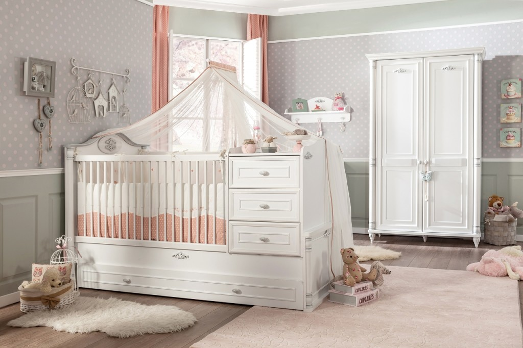 Cilek ROMANTIC BABY 2 Babyzimmer Kinderzimmer Set Komplettset Spielzimmer Weiß Bild 1