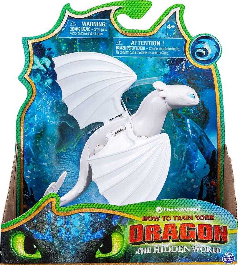 Spin Master 6055073 (20120948) - Dreamworks - Dragons - Drachenzähmen leicht gemacht 3 - Drachenfigur, Tagschatten/Lightfury Bild 1