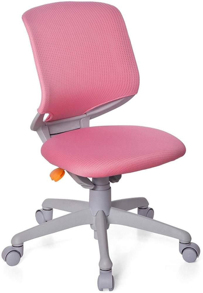 hjh OFFICE 712040 Kinder-Schreibtischstuhl Kid Move Grey Netzstoff Rosa/Grau Drehstuhl ergonomisch, Rückenlehne verstellbar Bild 1