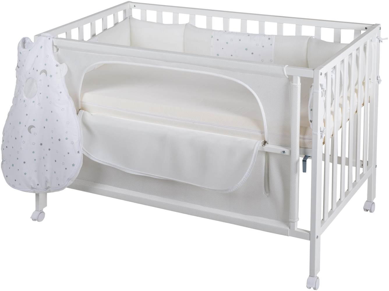 Roba 'Room Bed' Beistellbett weiß, inkl. Ausstattung 'Sternenzauber' Bild 1