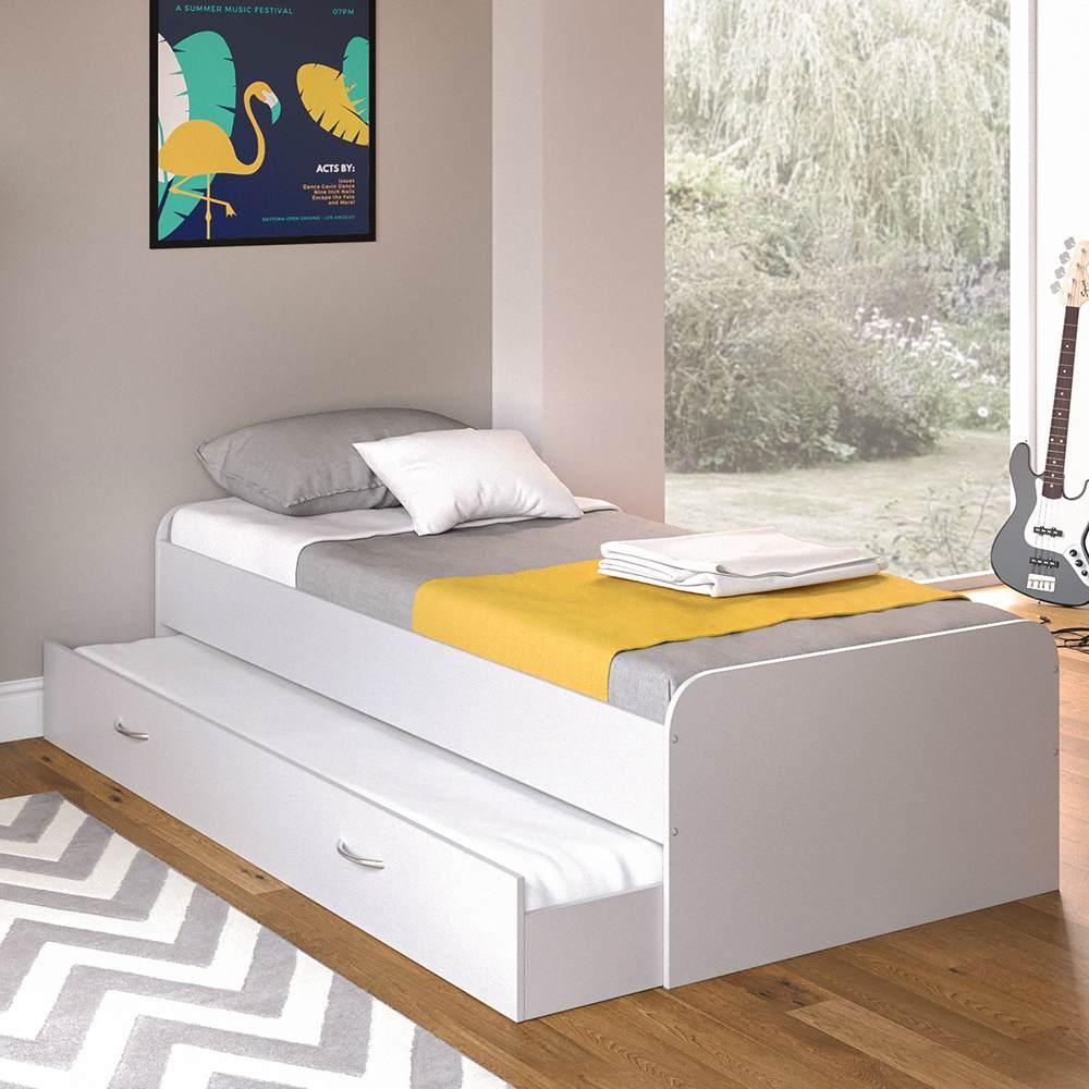 VitaliSpa 'Enzo' Kojenbett weiß, 90 x 200 cm, inkl. Bettkastenschublade Bild 1