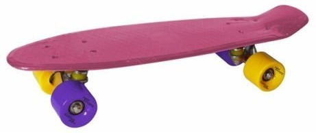 New Sports Kickboard, gelb und lila, ABEC 7 Bild 1