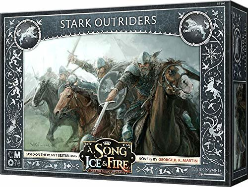 CoolMiniOrNot CMNSIF102 Thrones A Song of Ice and Fire Miniaturspiel: Stark Outriders Expansion, Mehrfarbig Bild 1