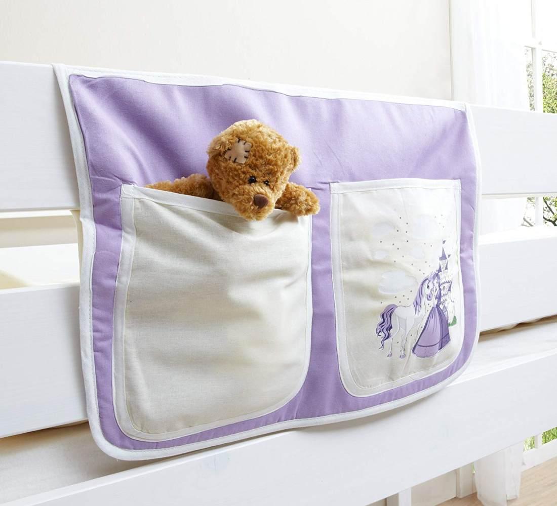Ticaa Bett-Tasche für Hoch- und Etagenbetten - horse lila Bild 1