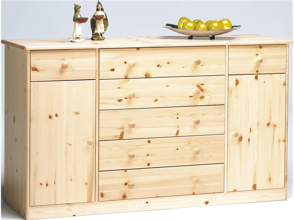 STEENS Mario Sideboard mit 2 Türen und 5 großen Schubladen Natur lackiert 1780310019000N Bild 1