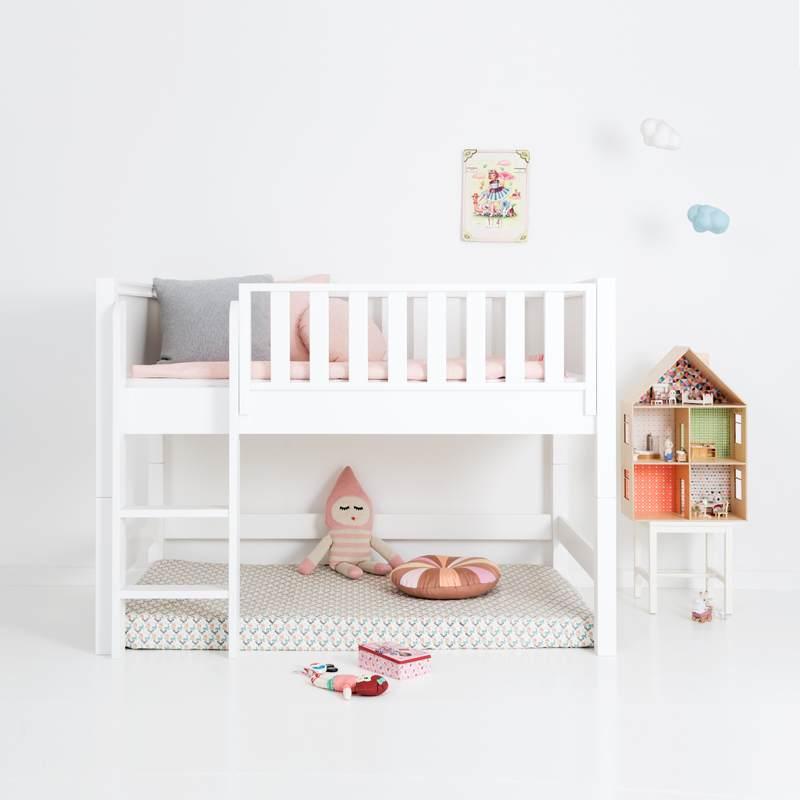 Sanders Bett halbhohes Kinderbett mit gerader Leiter Fanny 90x160 cm Bild 1