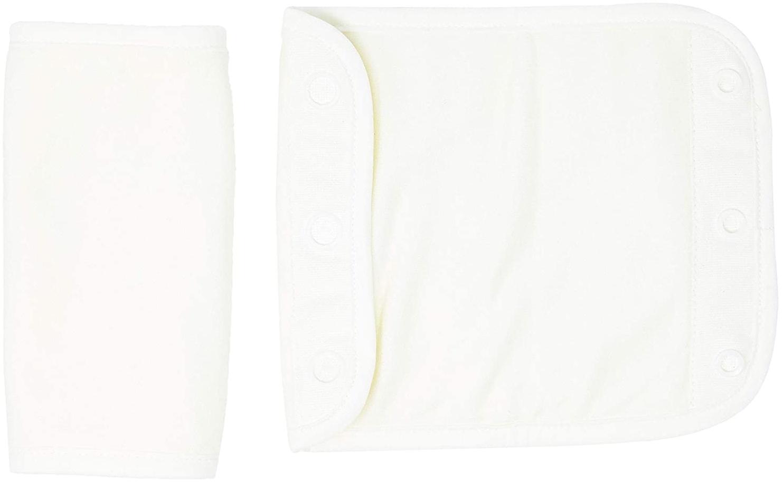 Ergobaby Beiß-Pad Schultergurtschoner Lätzchen für Babytragen, 2 Stück Teething Pad Baumwolle Saugfähig, Natural Bild 1
