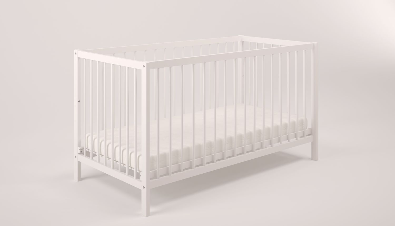 Polini Kids Gitterbett 'Simple 101' weiß aus Naturholz Bild 1