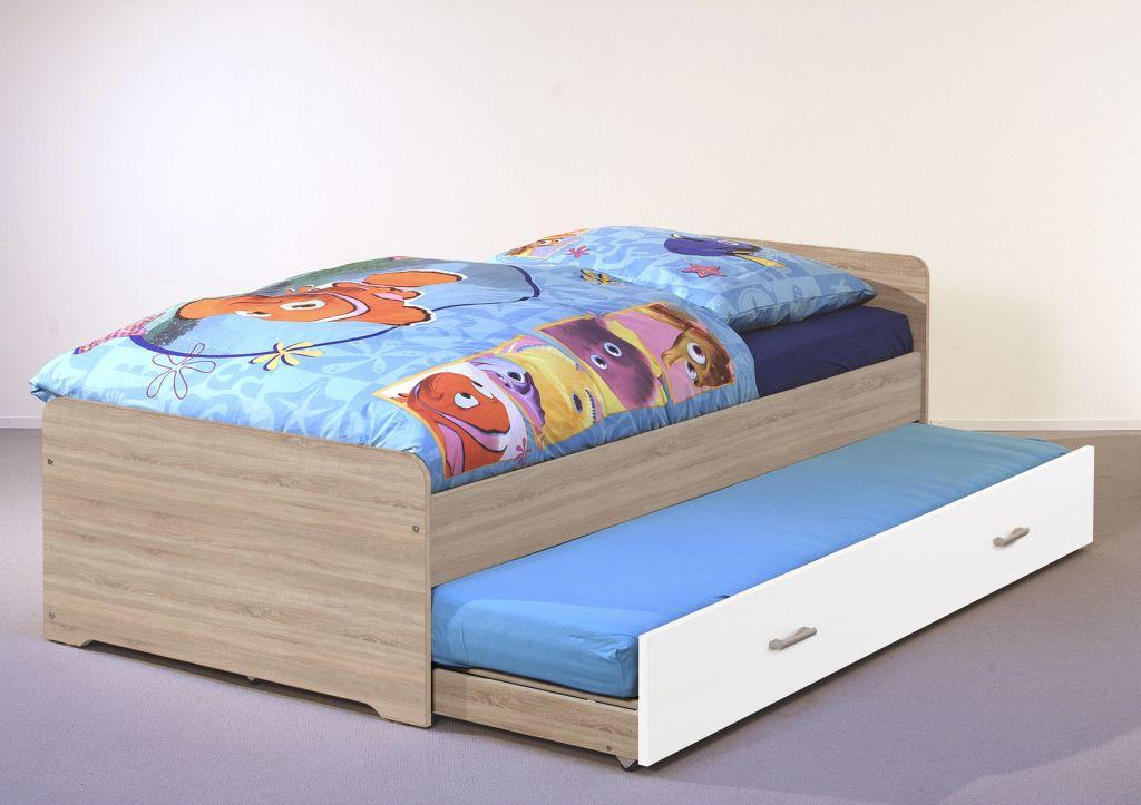 Bega 'Duplo' Einzelbett inkl. Bettkastenschublade Eiche Sonoma/Weiß 90x200 cm Bild 1