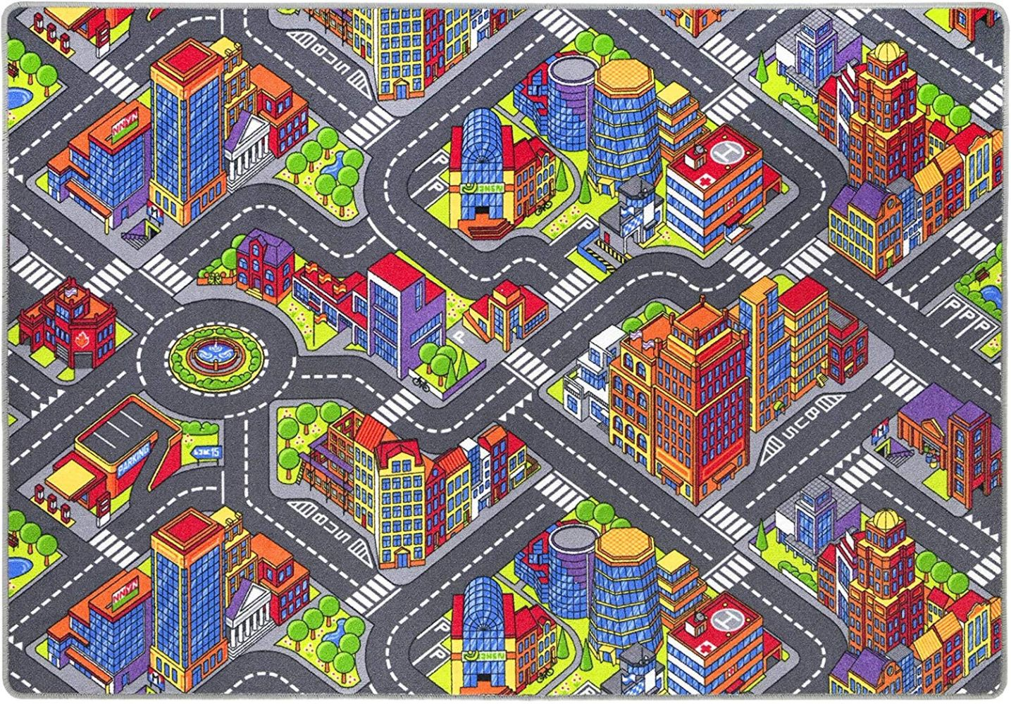 misento 'Big City' Kinderteppich 140x200 cm Bild 1