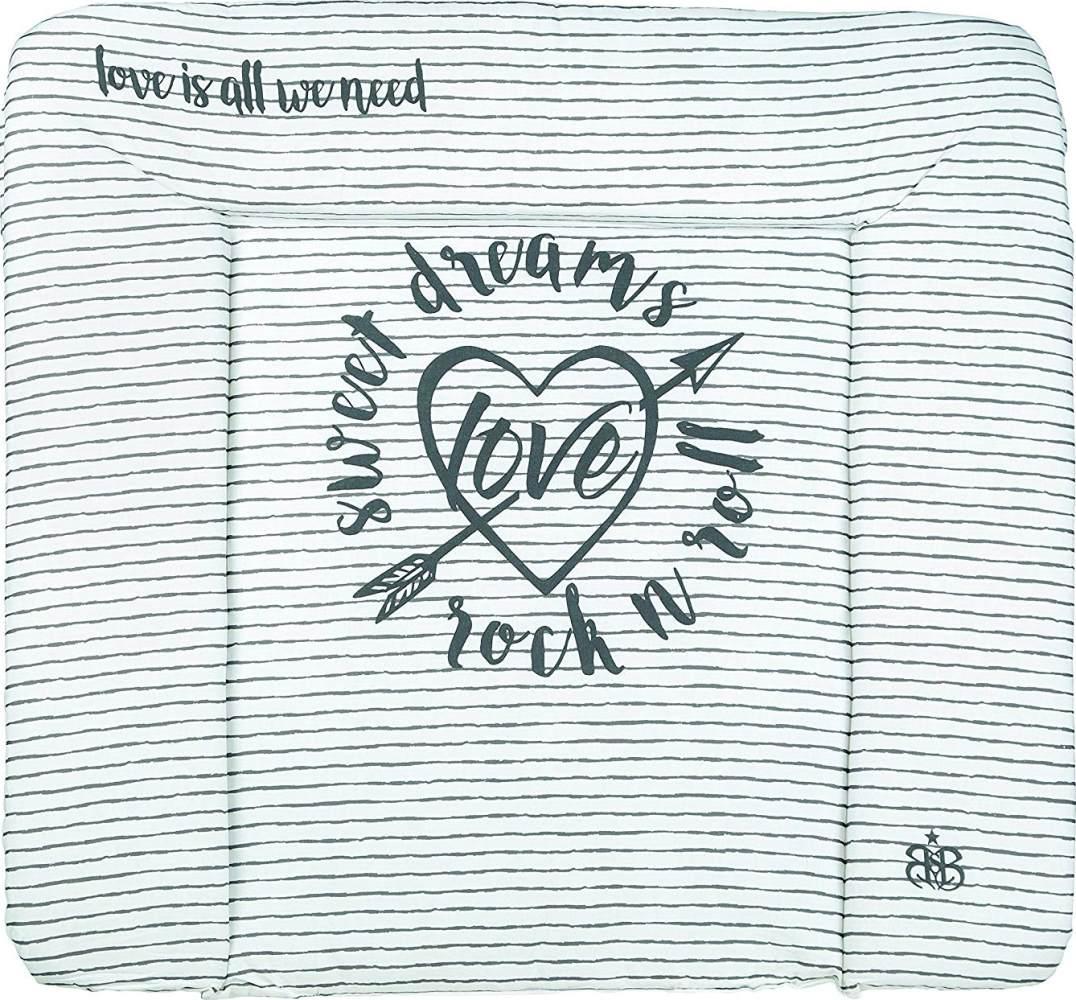 Roba 'Rock Star Baby 3' Wickelauflage 75 x 85 cm grau/weiß Bild 1