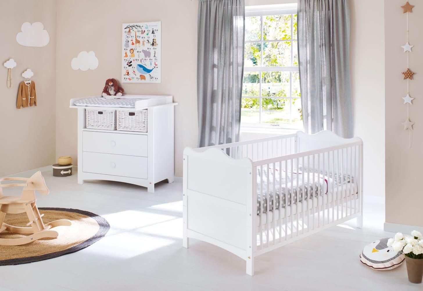 Pinolino 'Florentina' 2-tlg. Babyzimmer-Set weiß, breit Bild 1