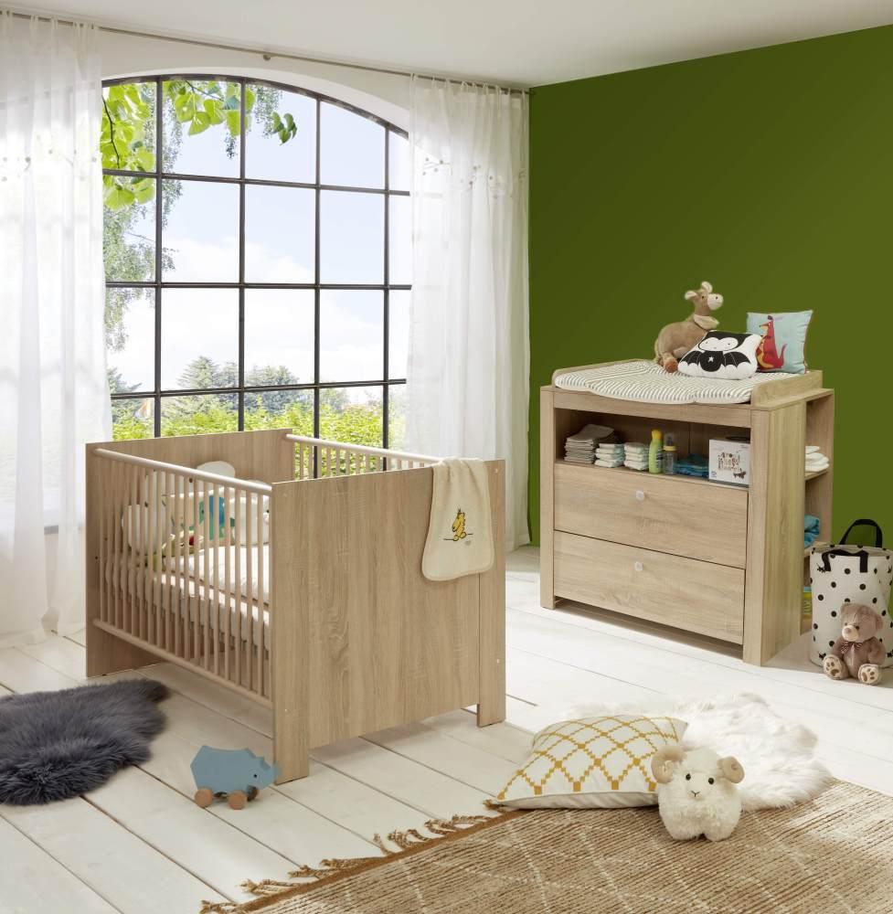 Trendteam 3-tlg. Babyzimmer-Set Olivia/Julie Eiche hell Bild 1