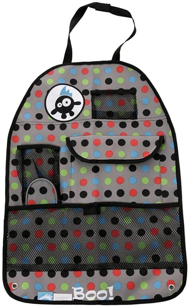 Osann Rückenlehnenschutz Organizer Utensilo mit diversen Taschen, Boo Bunt Bild 1