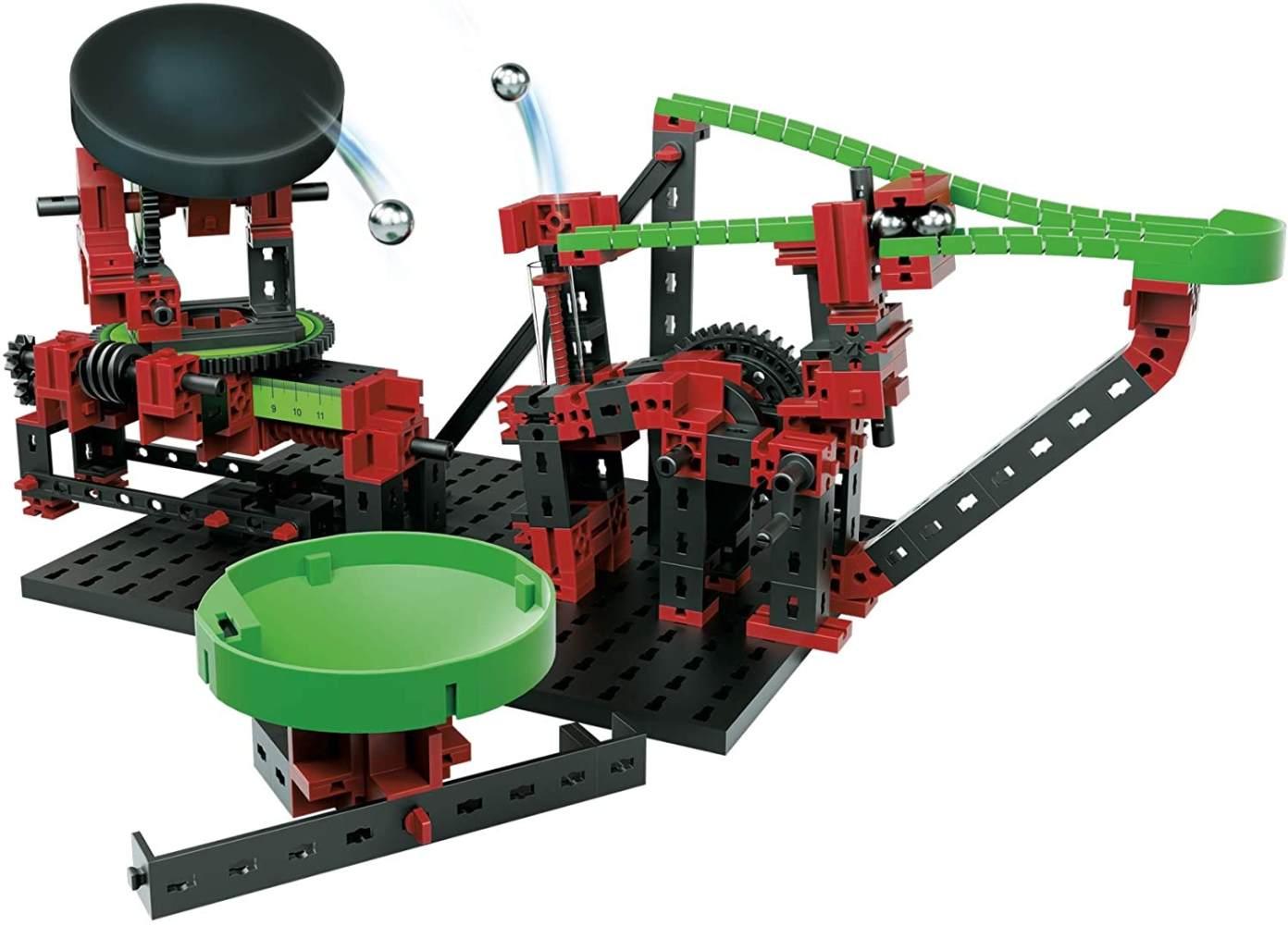 fischertechnik Dynamic XM Kugelbahn mit Katapult und verstellbarem Trampolin - 3 actionreiche Modelle - für Kinder ab 8 Jahren Bild 1