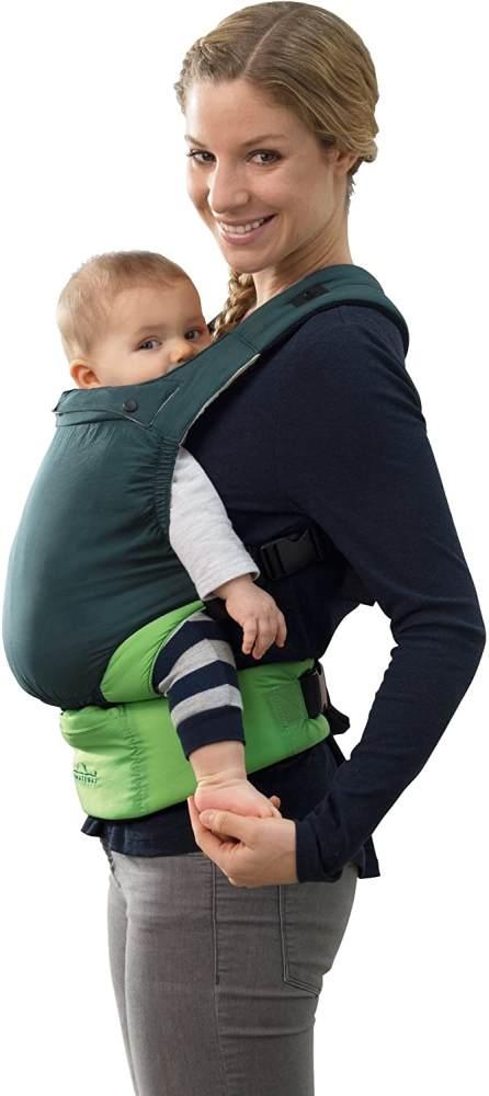 AMAZONAS Babytrage Smart Carrier Ultra-Light Green nur 370 g Eigengewicht für 0-3 Jahre bis 15 kg Bild 1