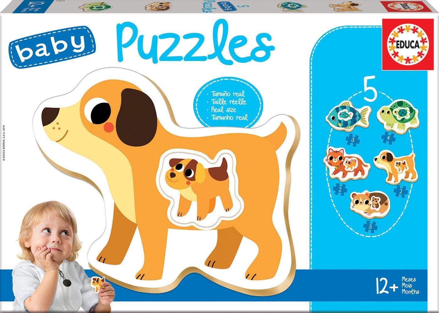 Educa 17573 12 Monate Tiere Puzzle Bild 1