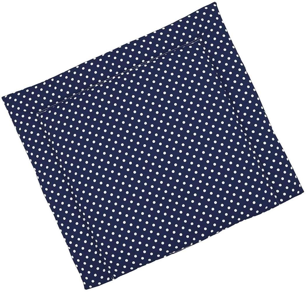 Sugarapple Wickelauflage dunkelblau, Punkte Bild 1