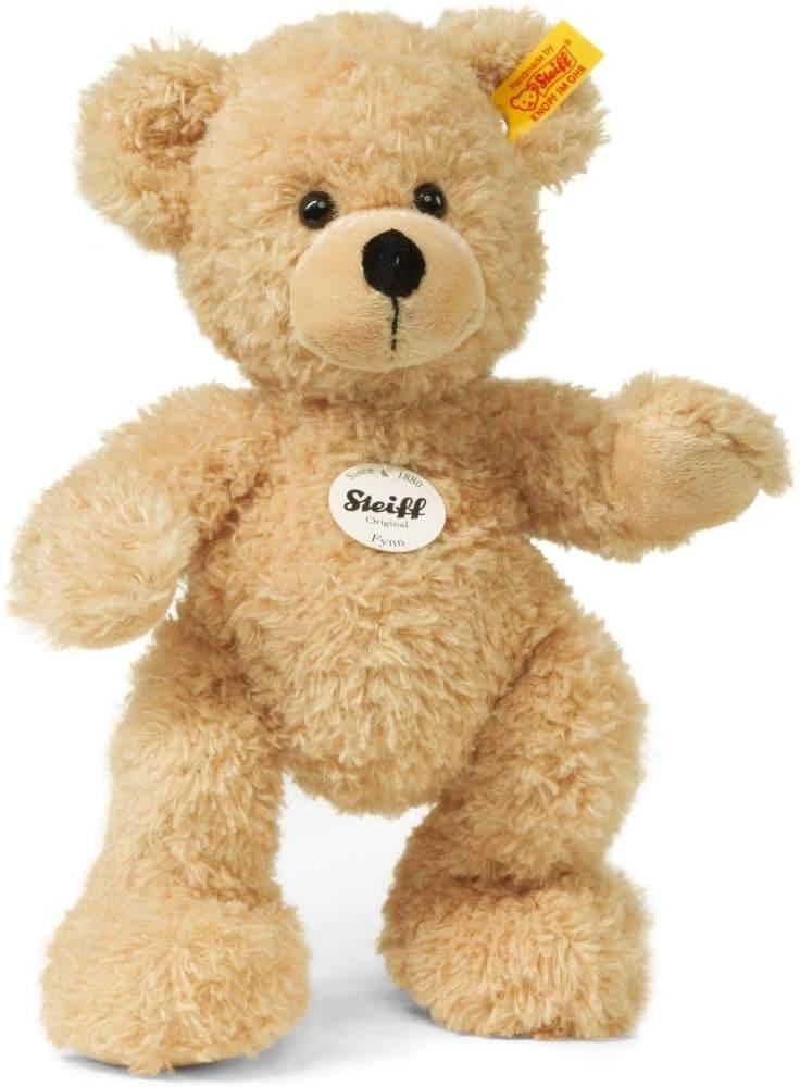 Steiff Teddybär Fynn - 28 cm - Teddy Kuscheltier für Kinder - beweglich & waschbar - beige (111327) Bild 1