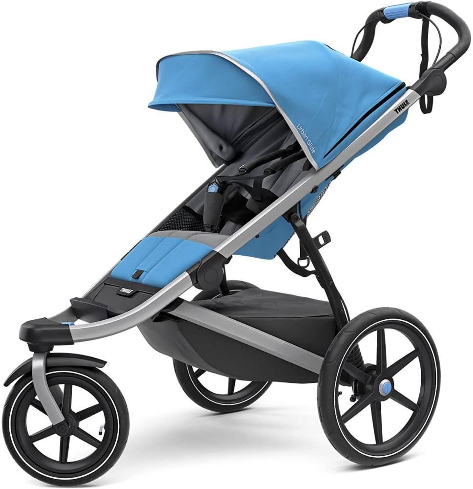 Thule Urban Glide 2 All Terrain Kinderwagen, blau/silberner Rahmen, Einzelbett Bild 1