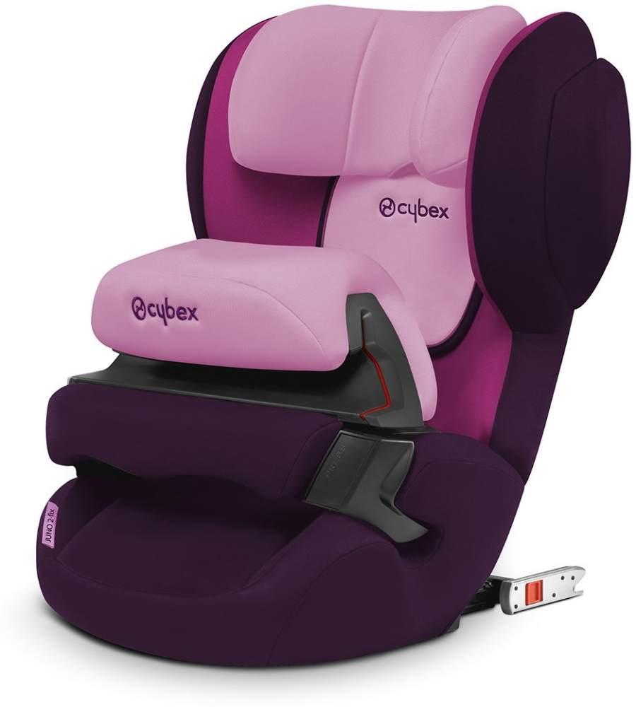 CYBEX Silver Kinder-Autositz Juno 2-Fix, Für Autos mit ISOFIX, Autositz Gruppe 1 (9-18 kg), Purple Rain Bild 1