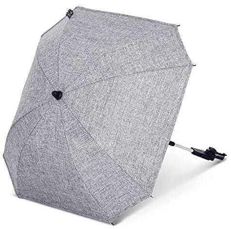 ABC Design Universal Sonnenschirm Sunny – für Kinderwagen und Buggy – UV-Schutz 50+ – Universalhalterung für Rund- und Ovalrohre – Farbe: shadow Bild 1