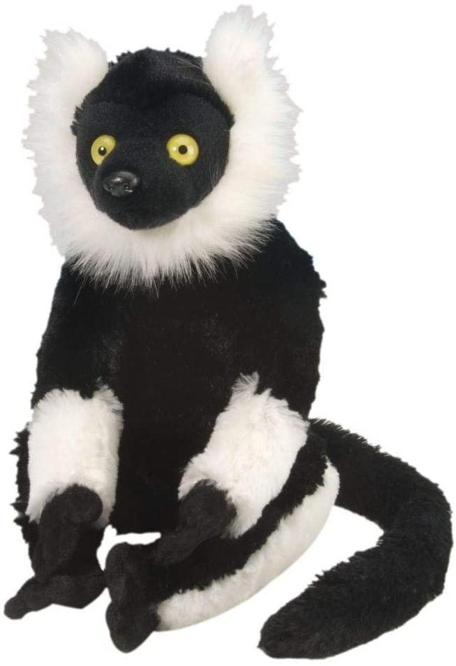 Wild Republic 12230 Plüsch Schwarz Weiß Lemur, Cuddlekins Kuscheltier, Plüschtier, 30 cm Bild 1