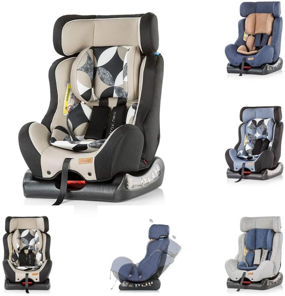 Chipolino Kindersitz Trax Neo Gruppe 0+/1/2 (0-25 kg), Leinen- und Jeansstoff, Farbe:beige Bild 1