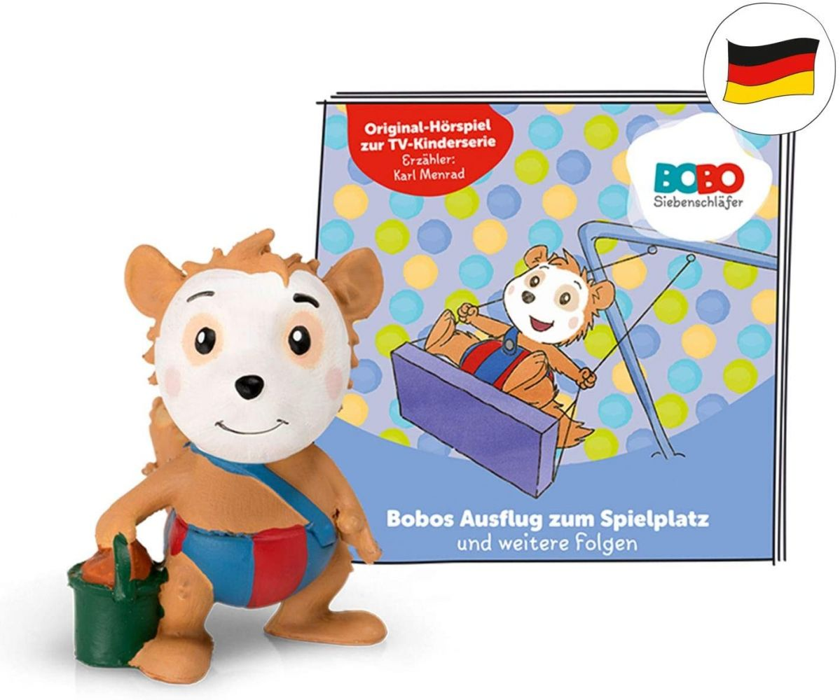 tonies Hörfiguren für Toniebox: BOBO SIEBENSCHLÄFER Bobos Ausflug zum Spielplatz + 6 weitere Folgen - ca 40 Min. Spieldauer - ab 3 Jahre - DEUTSCH Bild 1