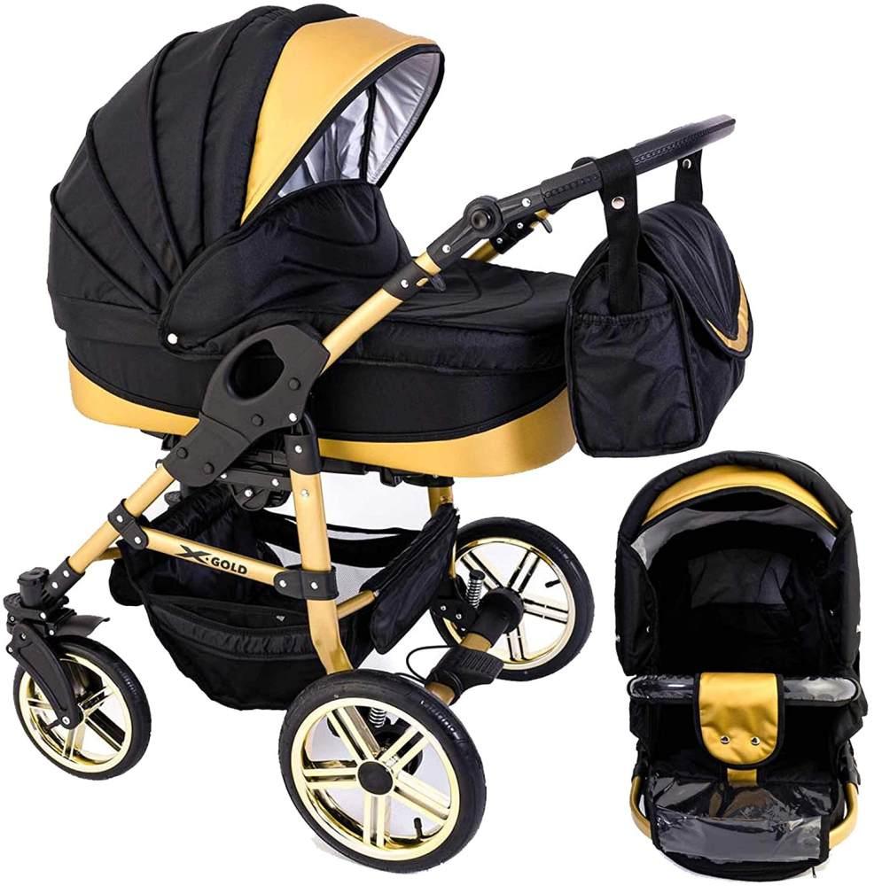 Tabbi ECO X GOLD | 2 in 1 Kombi Kinderwagen | Luftreifen | Farbe: Black Bild 1