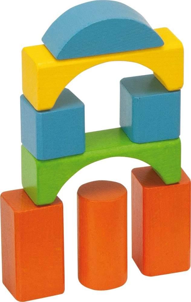 Eichhorn 75 pastellfarbene bunte Holzbausteine in Aufbewahrungsbox und Sortierdeckel, FSC 100% zertifiziertes Buchenholz, Motorikspielzeug geeignet für Kinder ab 1 Jahr Bild 1
