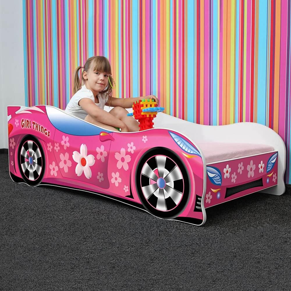 Nobiko Autobett pink 140 x 70 cm Bild 1