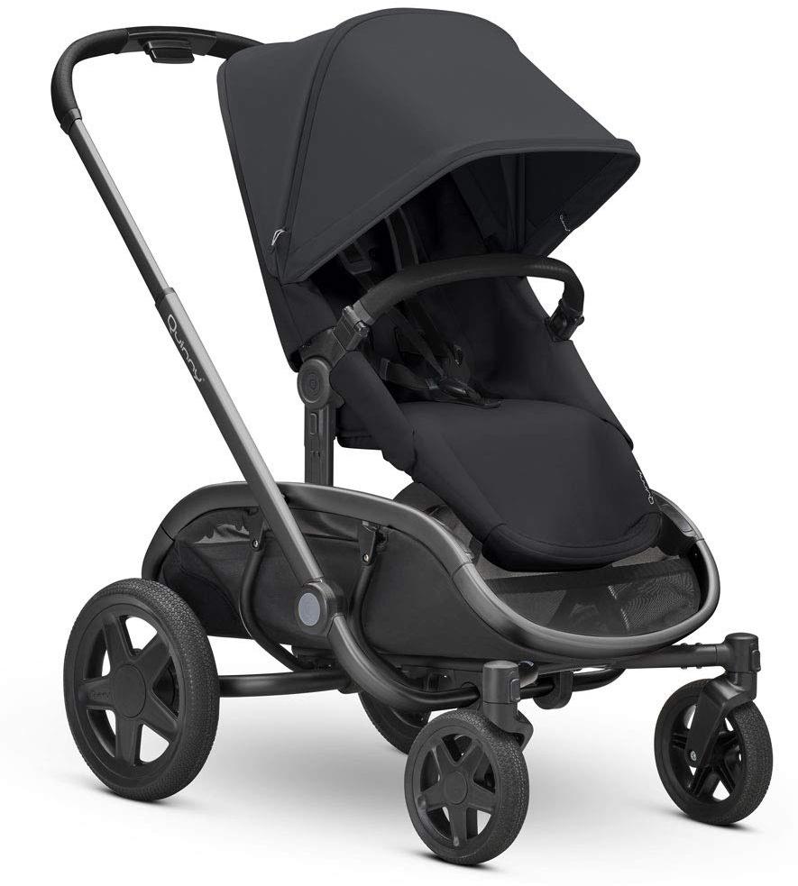 Quinny Hubb Mono XXL Shopping-Kinderwagen, großer Einkaufskorb, einfach klappbarer Kinderwagen, nutzbar ab ca. 6 Monate bis ca. 3,5 Jahre, Black on Black Bild 1