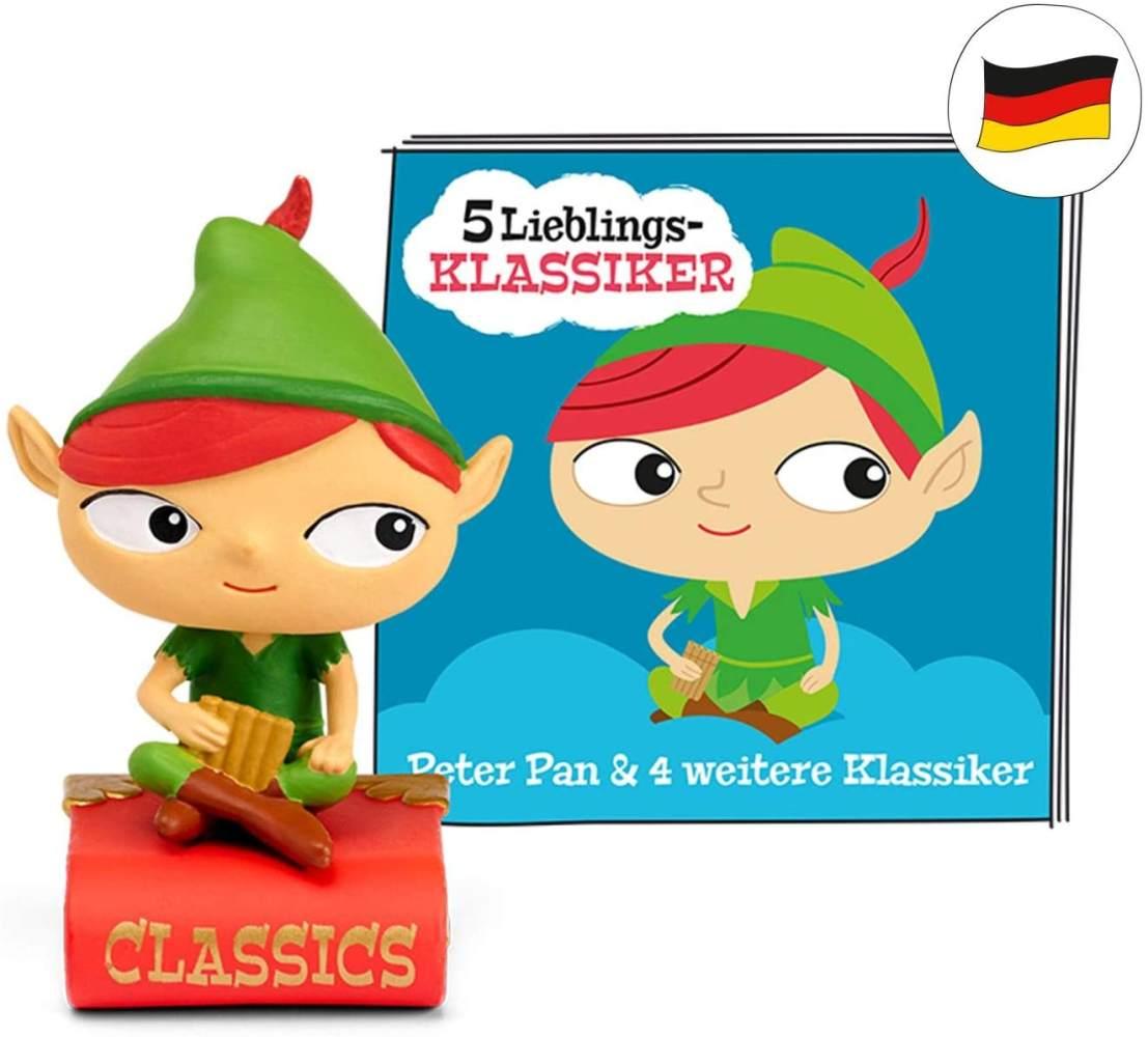 tonies Hörfiguren für Toniebox - 5 Lieblings-Klassiker - Peter Pan und 4 weitere Klassiker - ca. 61 Min. - Ab 3 Jahre -DEUTSCH Bild 1