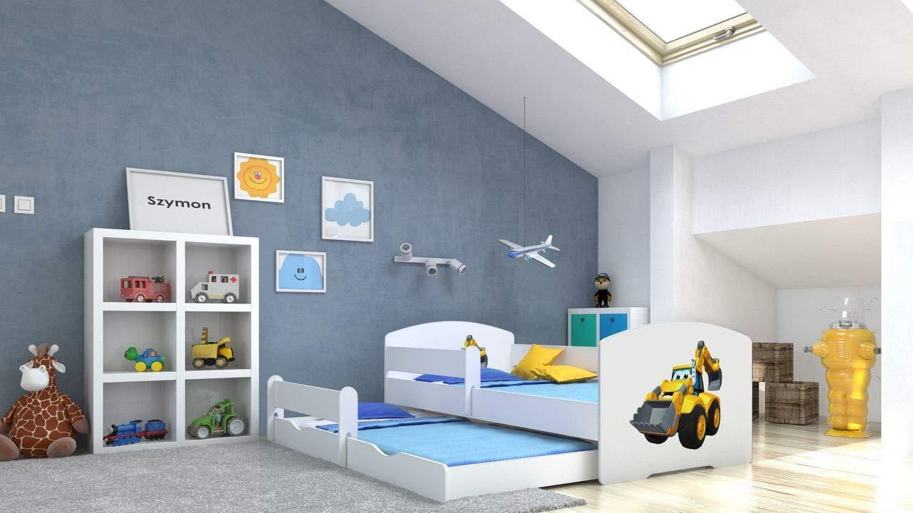 Angelbeds 'Luk' Kinderbett 80x160 cm, Motiv 28, inkl. Flex-Lattenrost, Schaummatratze und Schubbett Bild 1