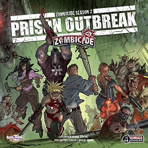 Asterion 8432 Zombicide Prison Outbreak Spiel, italienische Ausgabe Bild 1