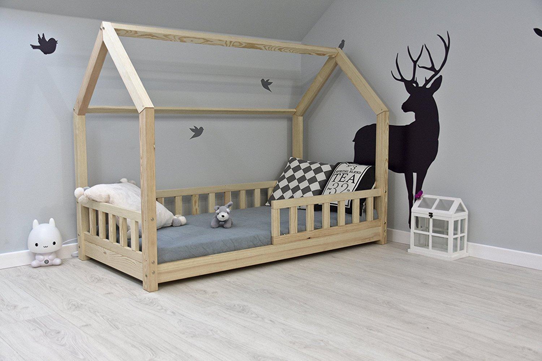Best For Kids Hausbett 80x160 inkl. Matratze und Rausfallschutz Bild 1
