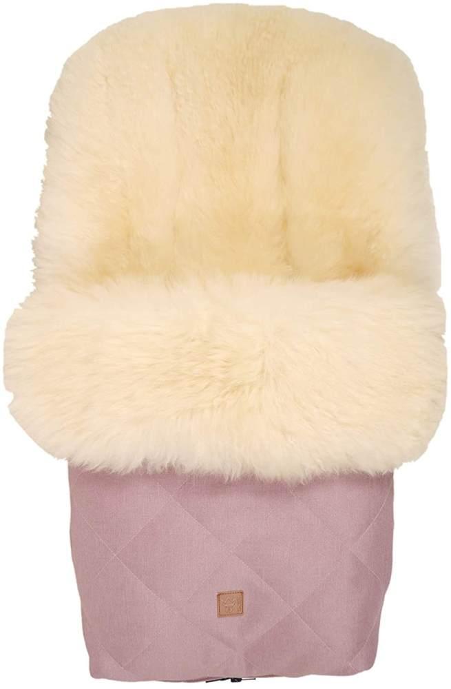 Kaiser 'Nelly' Lammfell Fußsack Limited Edition, milky sand, orchid pink, universell einsetzbar Bild 1