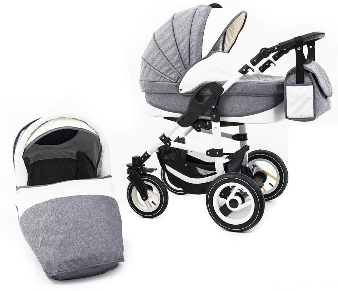 Tabbi ECO LN   2 in 1 Kombi Kinderwagen   Hartgummireifen   Farbe: Grey Bild 1
