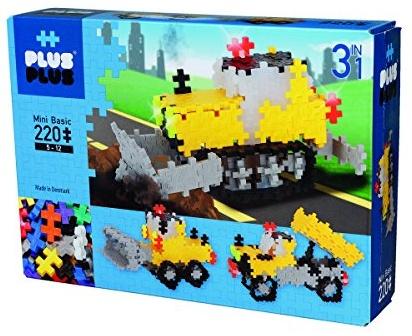 Plus-Plus 9603768 Geniales Konstruktionsspielzeug, Baustelle, Mini Basic, 3-in-1 Bausteine-Set, 220 Teile Bild 1